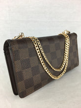 Load image into Gallery viewer, LOUIS VUITTON Damier Ebene Wallet on Chain