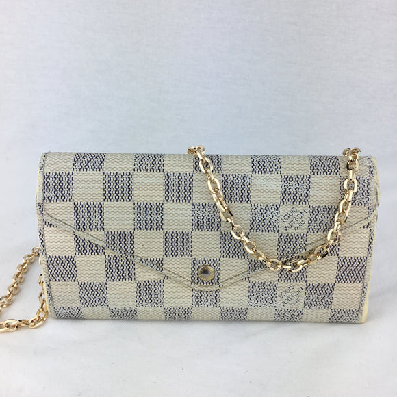 LOUIS VUITTON Damier Azur Josephine Wallet on Chain