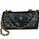 CHANEL Long Flap Wallet on Gold Chain
