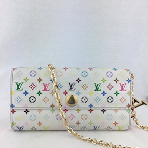 LOUIS VUITTON Multicolor Sarah Wallet on Chain