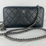 CHANEL Matrasse Zip Wallet on Beaded Chain