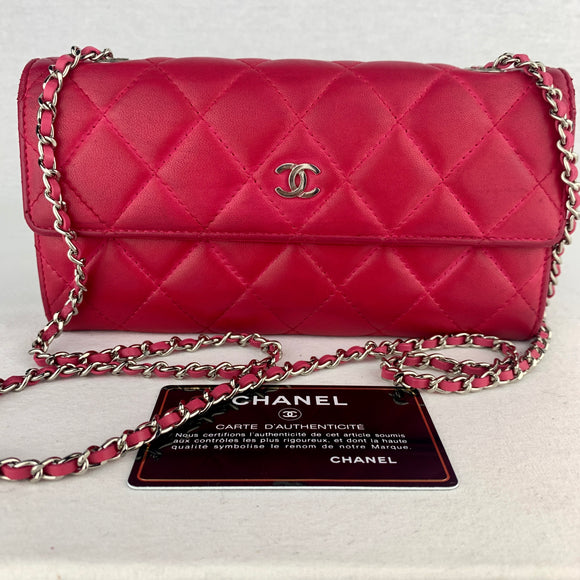 CHANEL Matelasse Flap Wallet on Micro Chain