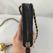 Load image into Gallery viewer, CHANEL Diamond Stitch Zip Wallet with Adjustable Chain