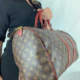 LOUIS VUITTON Vintage Keepall 50 dyed Deep Red