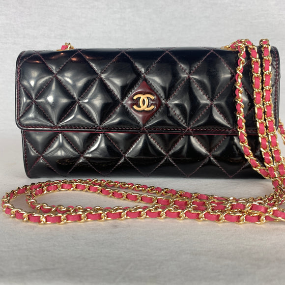 CHANEL Double Chain Flap Wallet