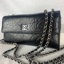 Load image into Gallery viewer, CHANEL Camellia Flap Wallet on Micro Chain