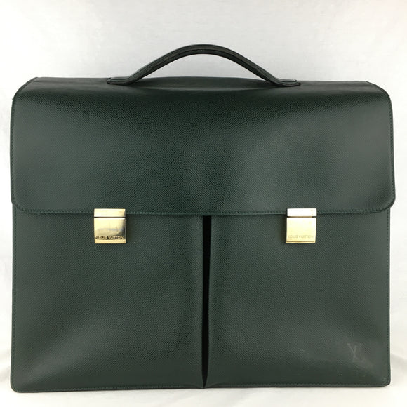 LOUIS VUITTON Taiga Leather Khazan Briefcase/Files