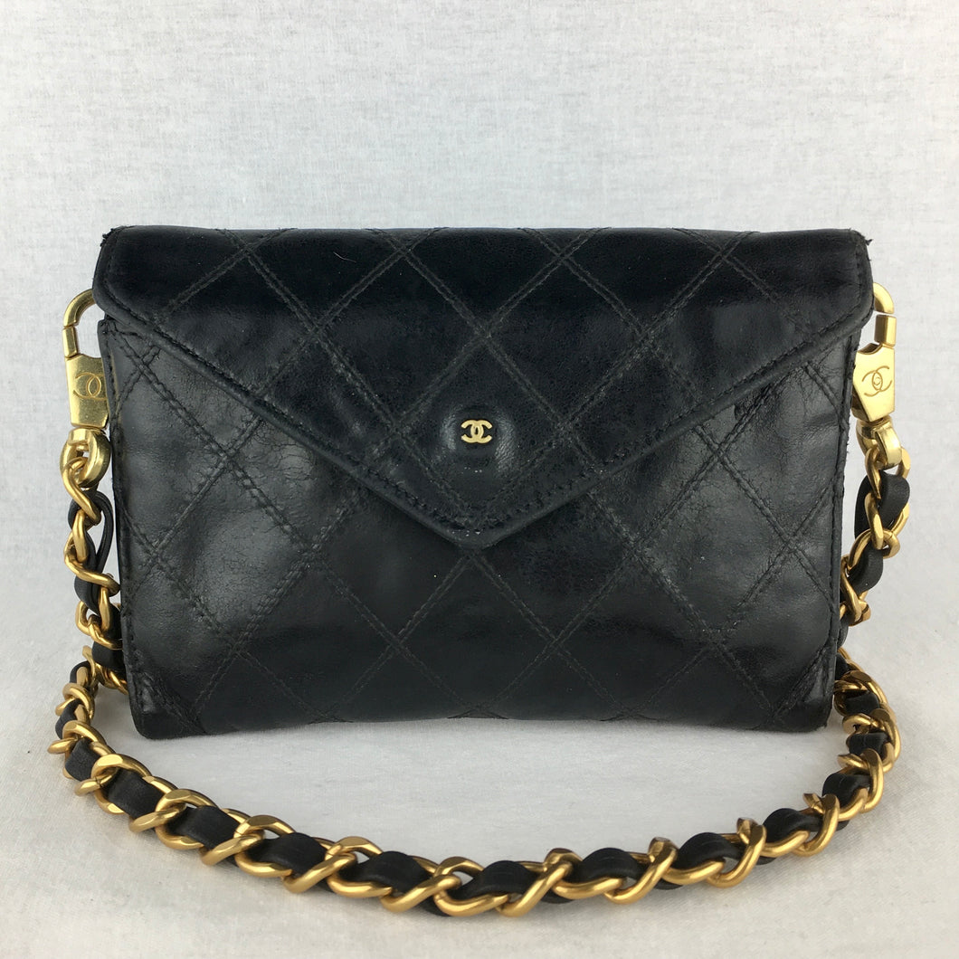 CHANEL♥️Wild Stitch Wallet on Crossbody Chain