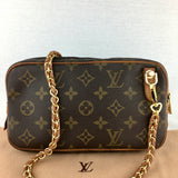 LOUIS VUITTON Pochette Marly On Braided Chain