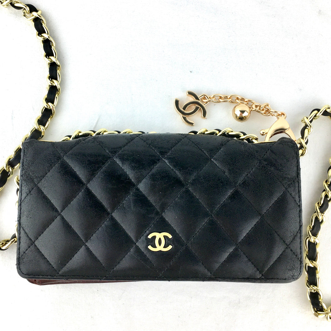 CHANEL Matelasse Lambskin Wallet on Chain