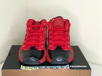 Reebok Question Mid Scarlet Red Black Heart Over Hype Iverson Mens FW5304