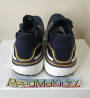 Adidas Ultra boost 19 Consortium Legend ink Blue Gold Mens sizes EE9447