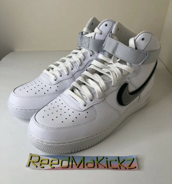 Nike Air Force 1 High '07 LV8 White Chenille Swoosh NO BOX Mens 806403 105