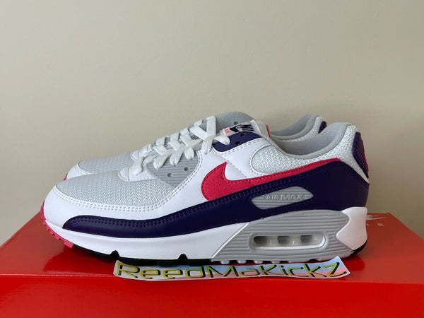 Nike Air Max III 90 Retro 2020 White Eggplant Zen Grey Mens CW1360 100