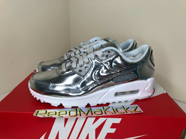 Nike Air Max 90 SP Chrome Metallic Silver Womens CQ6639 001