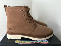 UGG Harkland Boots Chestnut Brown Suede Shearling Lined Mens 1106671