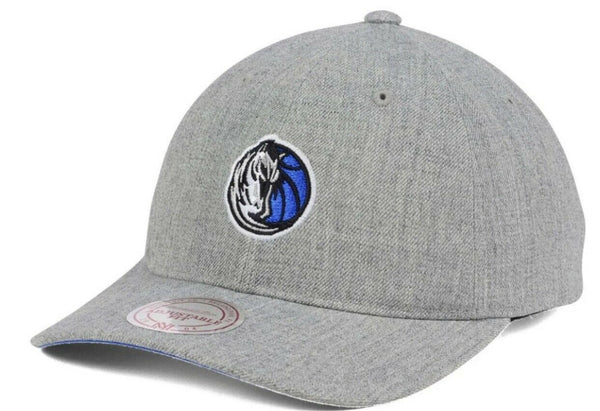 Mitchell & Ness Dallas Mavericks Dad Hat Heather Grey Mens