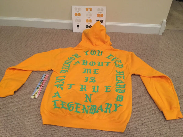 Kanye west True and Legendary Hoodie Gold Philadelphia Life of Pablo