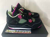 Nike Air Jordan 4 IV Retro 2015 Black Fuchsia Pink GS 705344 027