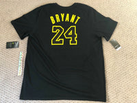 Nike Kobe Bryant Retirement Dri Fit Tee T-Shirt #8 #24 NBA Lakers Mens sizes