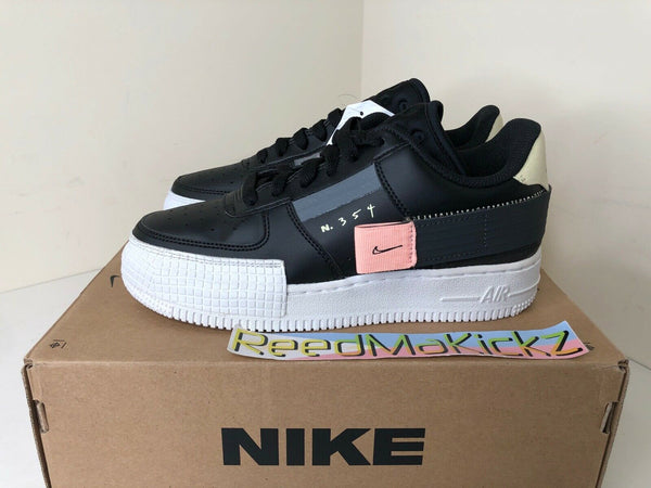 Nike Air Force 1 Type Black Anthracite GS 3.5Y PRE OWNED BQ4793 001