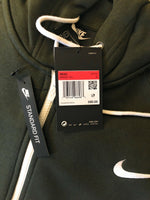 Nike Swoosh Full Zip Hoodie DARK GREEN Oatmeal Heather Mens BV5237 141