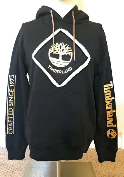 Timberland Patch Tree Logo Black Hoodie Mens TB0A29F2 001