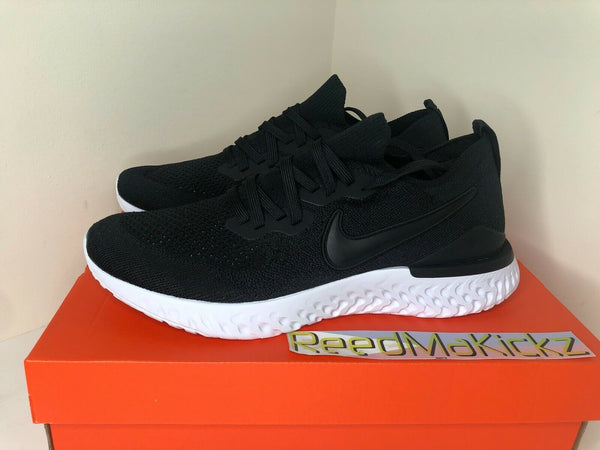 Nike Epic React Flyknit 2 Black White Gunsmoke Mens BQ8928 002