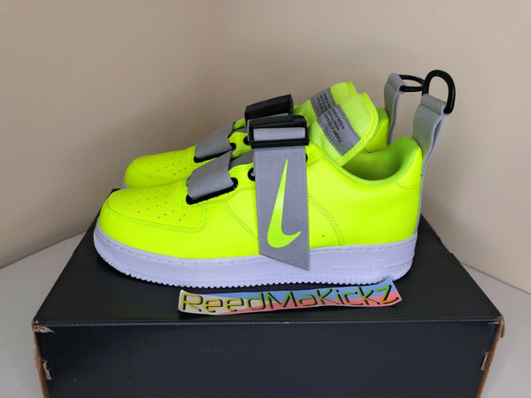 Nike Air Force 1 Utility Volt White Black Mens sizes AO1531 700