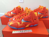 "Nike Lebron XI ""Forging Iron"" GS Grade school sizes PRE HEAT SOUTH BEACH MVP"
