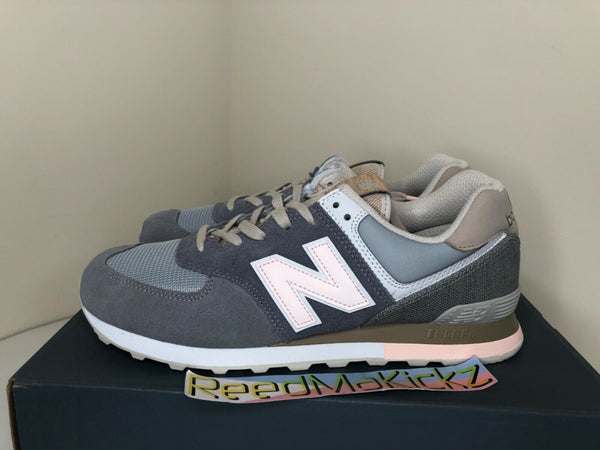 New Balance 574 Retro Surf Grey Light Pink Gunmetal Mens ML574BSG