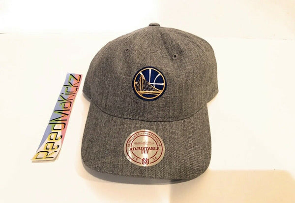 Mitchell & Ness Golden State Warriors Dad Hat Heather Grey Mens