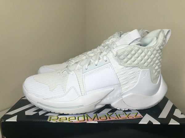 Jordan Westbrook Why not Zero.2 Triple White Mens AO6219 101
