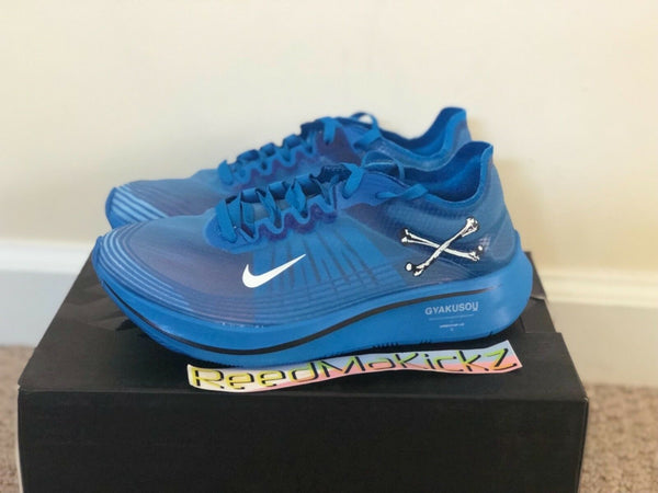 Nike Zoom Fly x Undercover Gyakusou Blue Nebula Sail Black mens sizes AR4349 400