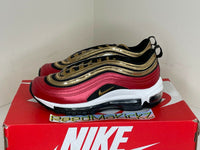 Nike Air Max 97 University Red Metallic Gold Sequin Womens CT1148 600