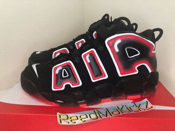 Nike Air More Uptempo '96 Black Laser Crimson Mens CJ6129 001