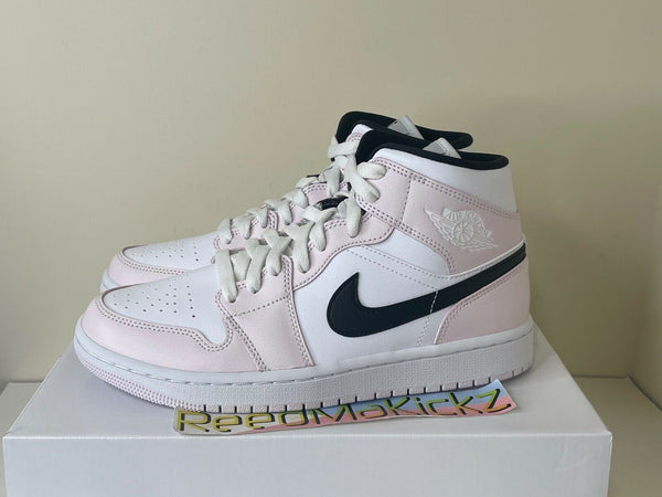 Nike Air Jordan 1 Mid Barely Rose Light Violet Pink Womens BQ6472 500