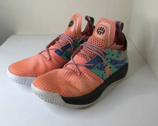 Adidas James Harden Vol 2 California Dreamin mens 10.5 PRE OWNED AH2219