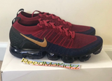 Nike Air Vapormax Flyknit 2 Team Red Wheat Obsidian Olympic Mens 942842 604