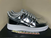 Nike Air Force 1 Low SP Silver Chrome Mens sizes CQ6566 001