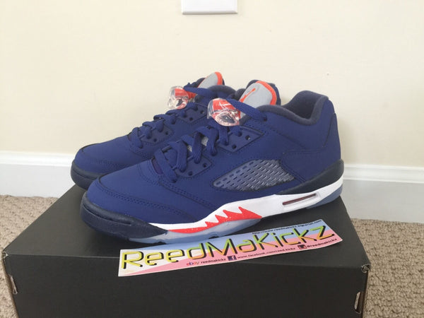 Nike Air Jordan 5 Retro low 2016 Deep royal blue Knicks grade school youth size