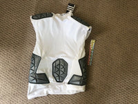 Adidas Techfit Ironskin 5 Pad Sleeveless Football Shirt Mens  White