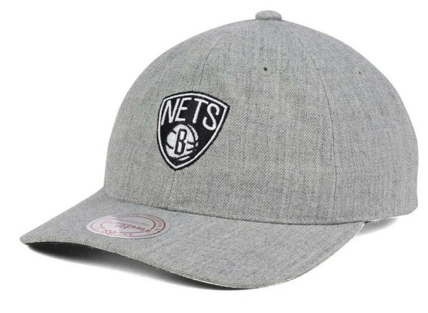 Mitchell & Ness Brooklyn Nets Dad Hat Heather Grey Mens