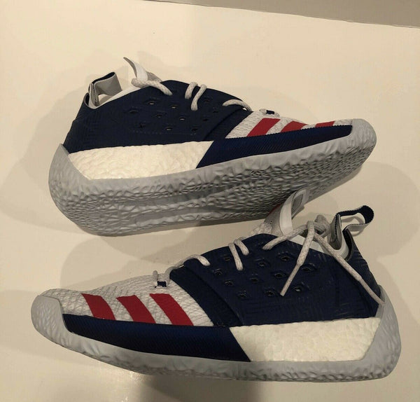 Adidas James Harden Vol 2 USA White Blue Red PRE OWNED  AQ0026