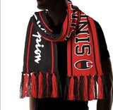 Champion Reversible Scarf Black Red UNISEX