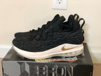 Nike Lebron 15 XV Low Black Metallic Gold Mens sizes AO1755001