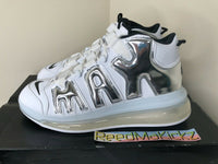 Nike Air More Uptempo 720 QS White Chrome Mens 13 us DISPLAY ITEM BQ7668 100