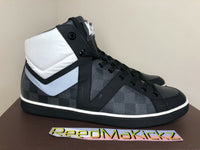 Louis Vuitton Heroes High Top Sneaker Damier Graphite MEN LV SIZE 8 SRP $745