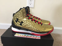 Under Armour UA SC30 Steph Curry one Mid Gold All American Mens size 15us