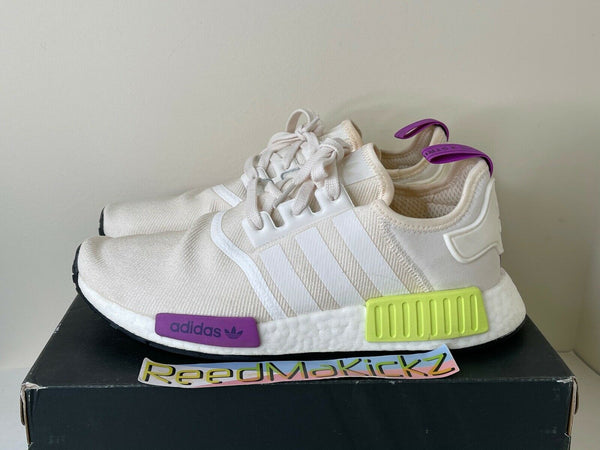 Adidas NMD R1 Chalk White Semi Solar Yellow PRE OWNED D96626